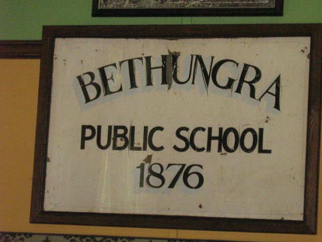 The old school sign