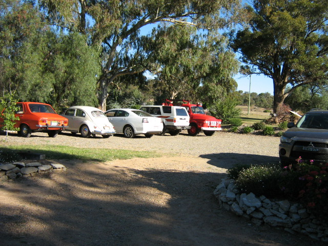 Cars at Bethungra